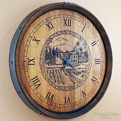 wine barrel wall clock - 7