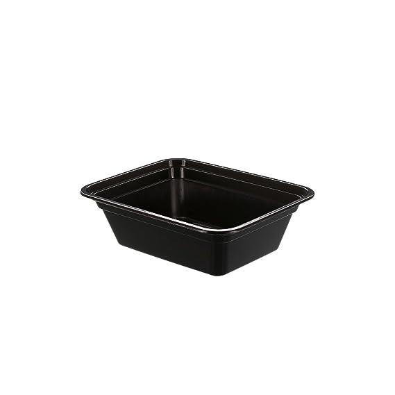 Tripak Premium 12 cm x 10 cm Black Plastic Container, 4 cm Deep ...