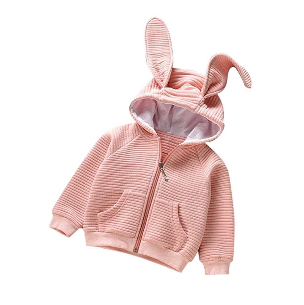 ☻Huhu833 Baby Mantel, Mä dchen Baumwolle Mit Kapuze Mantel Jacke Strickjacke Tops Outwear Kleidung
