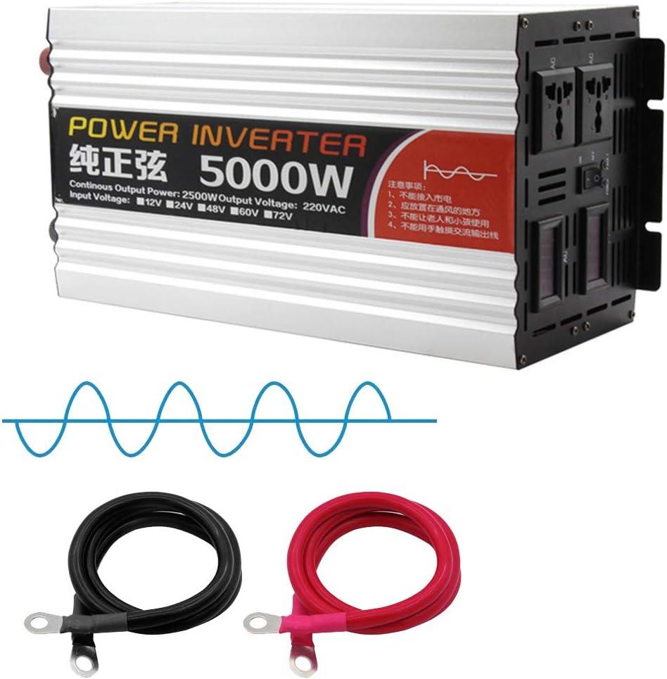 JHKJ-Inverter Convertidor de Voltaje de inversor de Onda sinusoidal Pura de Alta Resistencia 5000W 12v 24v 48v 60v a 230v