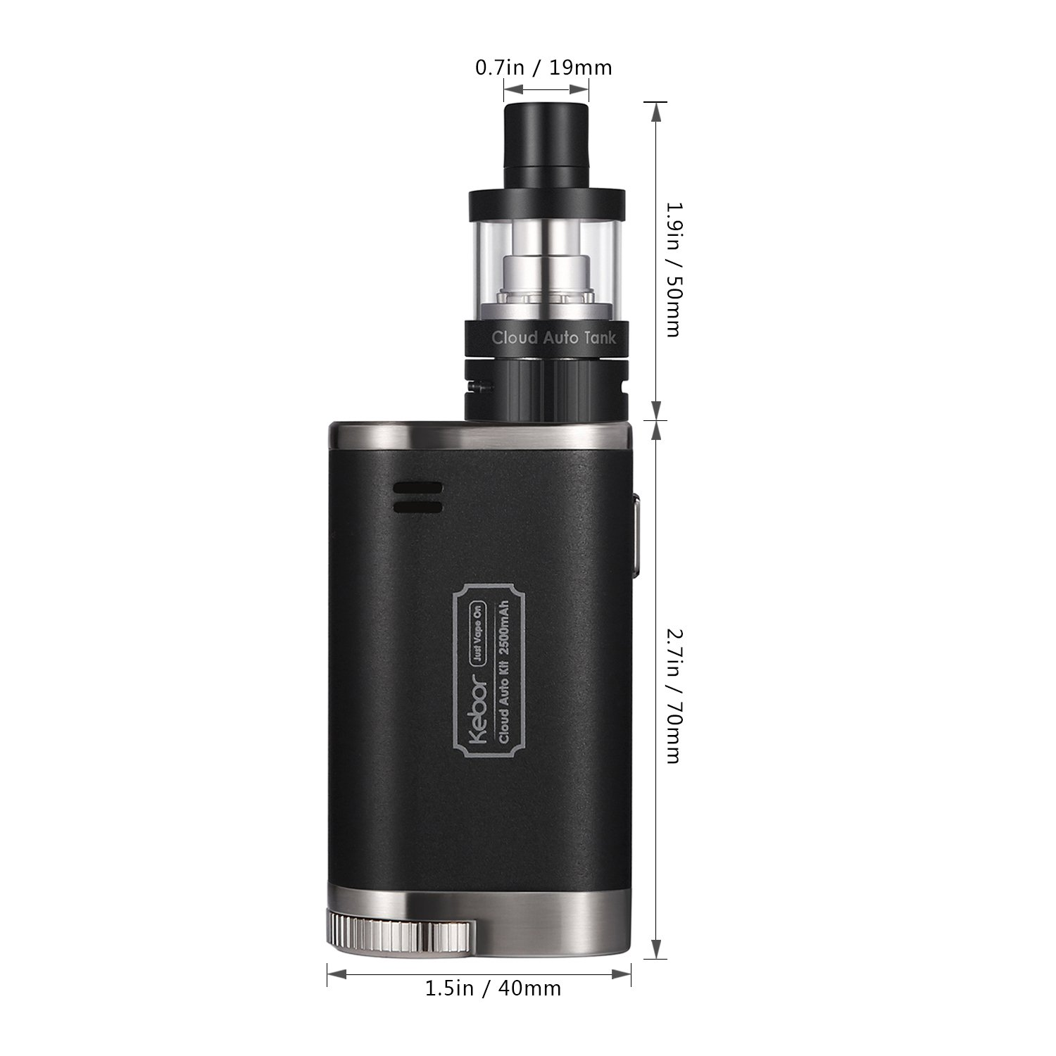 Innokin Vapeador Cigarro Electronico de Vapor, Kebor® Cloud Auto 40W Vape Box Mod Kit Cigarrillo MTL/DTL Cambiar Automáticamente, 2ml top-fill 0,5/1,2ohm ...