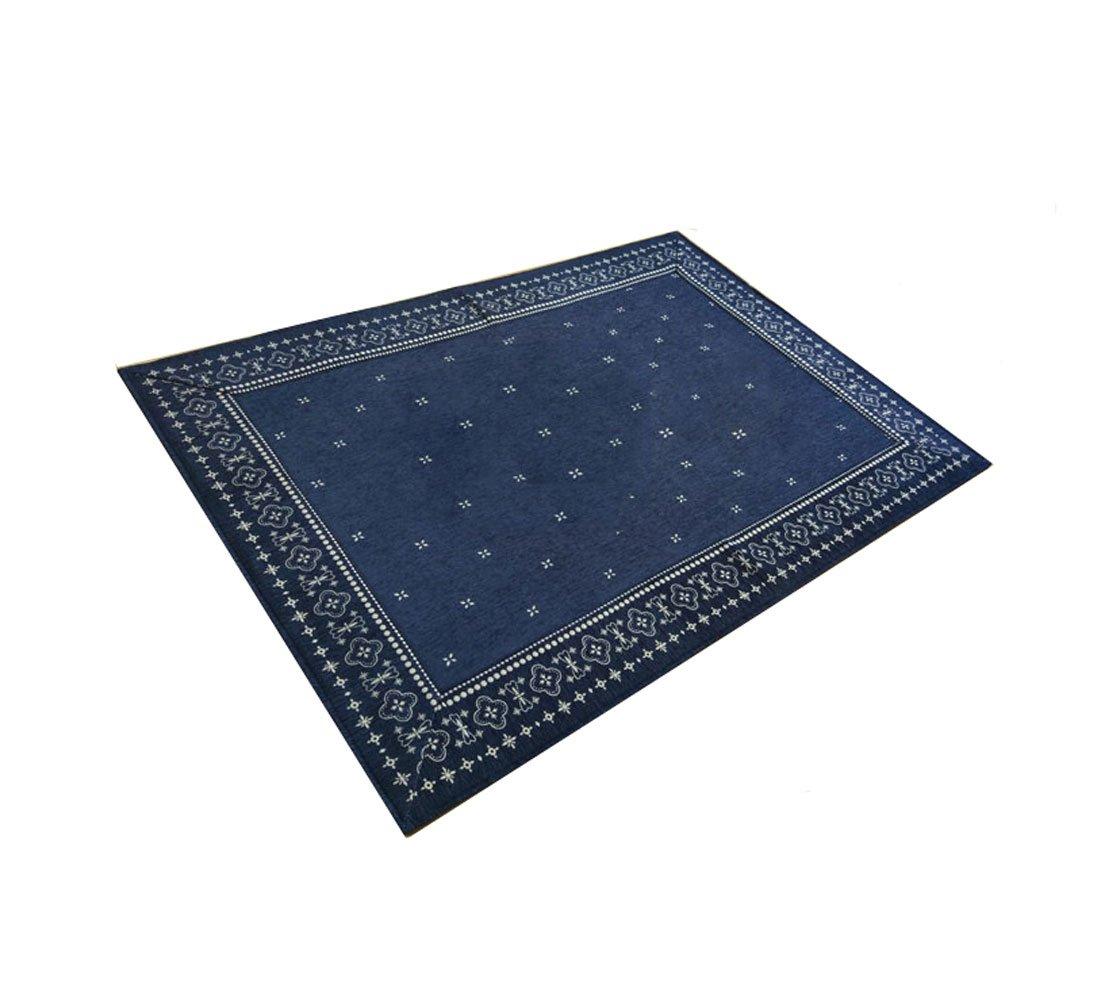 Jacquard Tappeto Giapponese 130 * 185CM Slittamento Divano Tappeto Del Salotto Camera Da Letto Den Carpet Carpet Tappeto Blu Rettangolo SENG