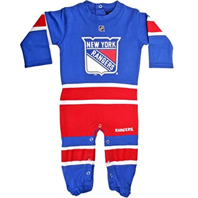 New York Rangers Newborn Blue Hockey Jersey Long Sleeve Coverall (0 3  Months) 2db4bf77fd7