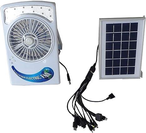 HJJH Ventilador Solar para Camping, Ventilador para Mesa de ...