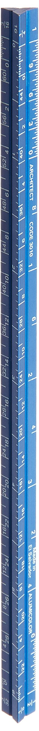 Alumicolor Pocket-Size Architect Scale, Aluminum, 6 inches, Blue (3010-5) by Alumicolor (Image #1)