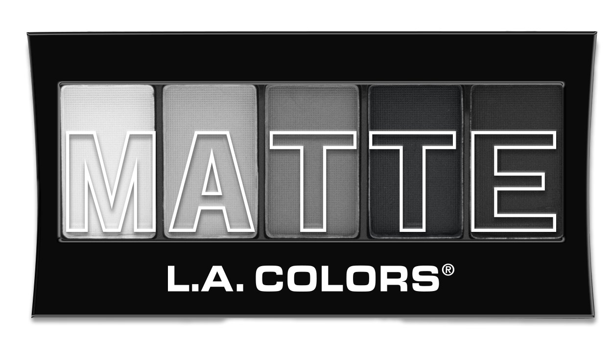 L.A. Colors 5 Color Matte Eyeshadow, Black Lace, 0.08 Oz L.A. Colors Cosmetics CEM475