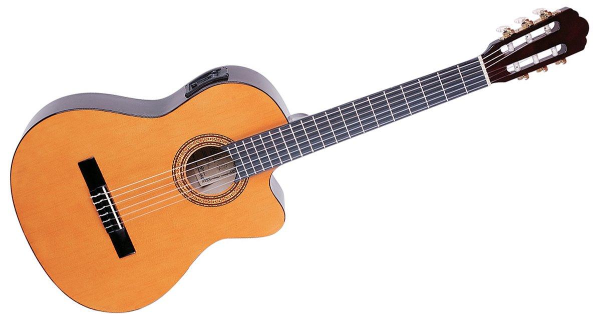 Toledo cgce-yw Guitarra Clásica electrificada de abeto ...