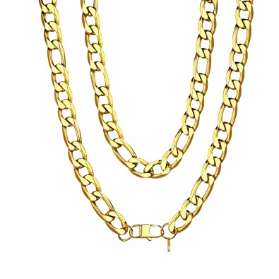 4f7acece1390e ChainsHouse Men Chunky Italian Necklace 18K Gold Plated Hip Hop ...