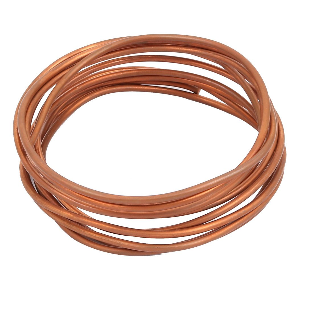 sourcingmap 2.9 Meters Long 3mm Dia Copper Tone Refrigeration Slender Pipe Tubing Coil