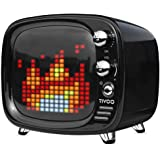 Divoom Tivoo Retro 16x16 Pixel Art DIY Box Full RGB Programmable LED by APP Control Bluetooth Speaker for All Smartphones (Black)