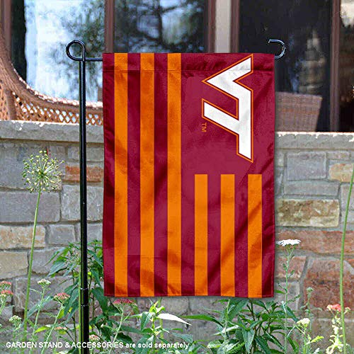 - College Flags and Banners Co. Virginia Tech Hokies Stripes Nation Garden Flag