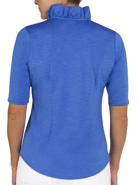 Jofit Millie 1//2 Sleeve Polo Nassau Blue