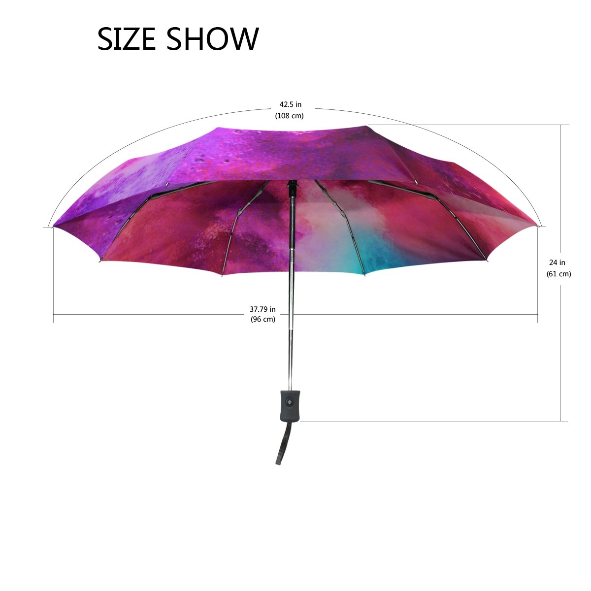 MAPOLO Paiting Vintage Tree Of Life Print Windproof Rain Travel Canopy 3 Folds Auto Open Close Button Umbrella