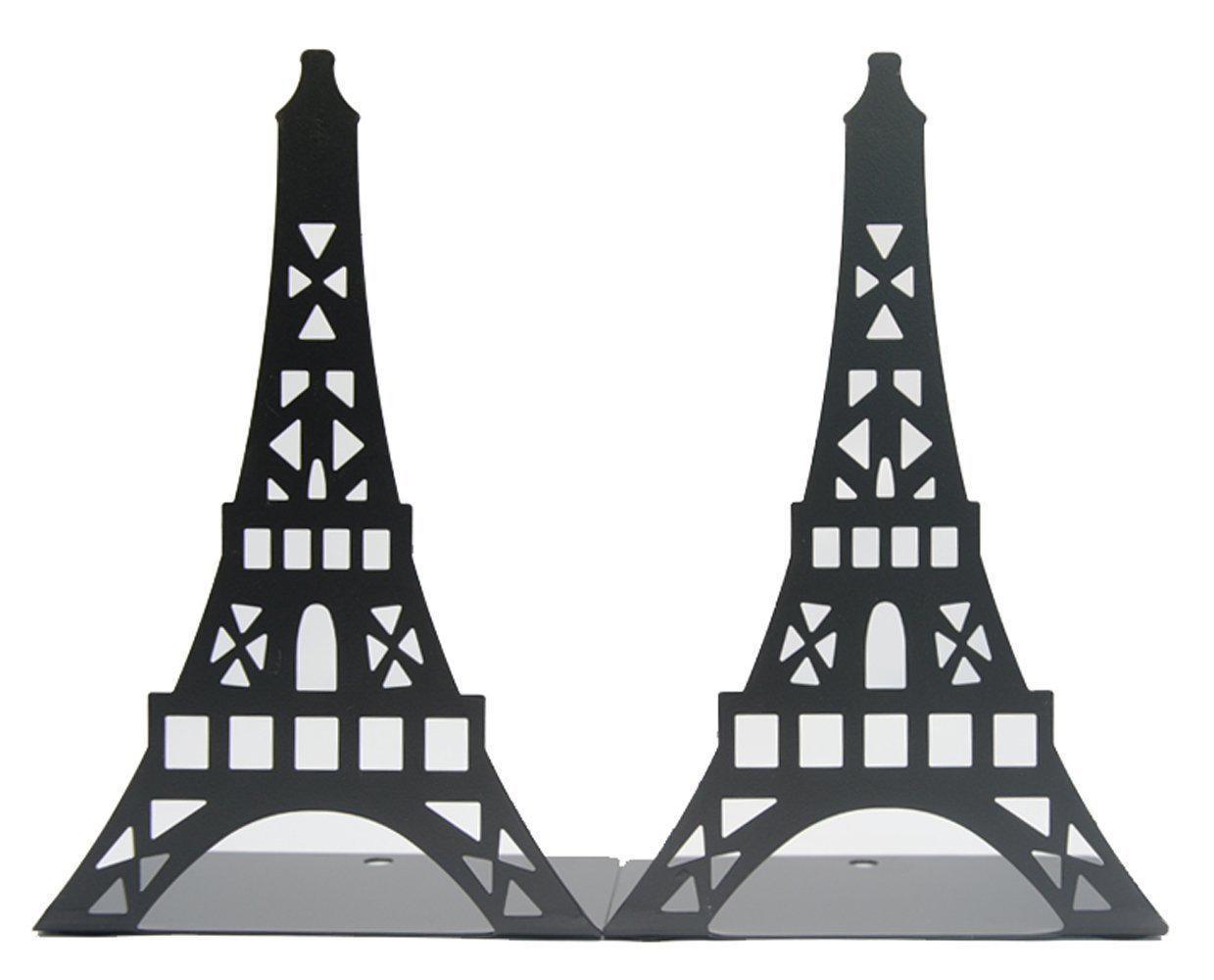 Ahkea Eiffel Tower Shaped Bookends - Creative Iron Bookends For Kids Children Bedroom Library School Office Desk Study Gift (Black)