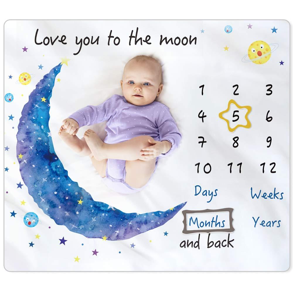 Baby Girl Gift Custom Baby Blanket Name Baby Blanket Blue Baby Blanket Milestone Blanket Milestone Baby Blanket Sporty Baby Bedding