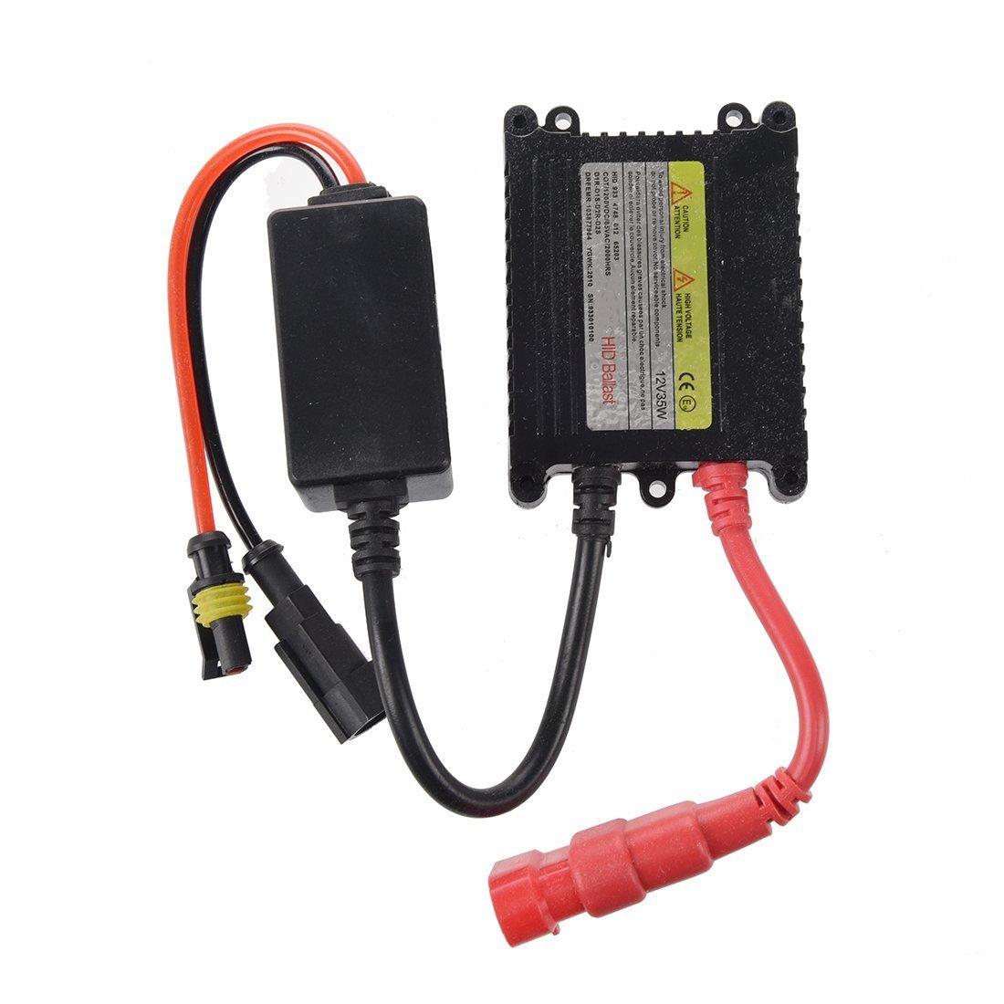 Dcolor Xenon HID Ballast Lampe Ampoule Slim 35W Pour H1 H3 H9 H10 H8 H7C 9004 SODIAL (R)