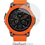 Nixon Mission Screen Protector, BoxWave [ClearTouch Glass] 9H Tempered Glass Screen Protection for Nixon Mission