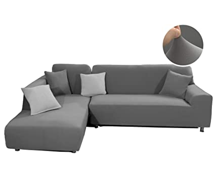 Amazon.com: WOMACO Sectional Sofa Cover L Shape Couch Slipcover ...