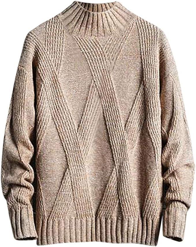 Solid Long Sleeve Hooded Pullover Sweatshirt Casual Loose Hip Hop Hoodie LIUguoo Winter Quarter Zip Hoodie for Men