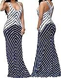 shekiss Women Sleeveless Sexy Maxi Stretch Bodycon Party Bandage Club Dresses – Small, Purplish Blue