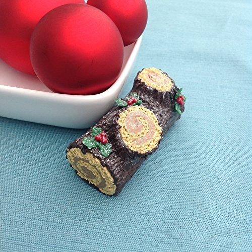 - Yule Log Cake Christmas Ornament