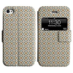 LEOCASE patrón increíble Funda Carcasa Cuero Tapa Case Para Apple iPhone 4 / 4S No.1004637