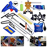 AUTOPDR® 32Pcs Paintless Dent Repair Kits Line Board Dent Lifter Car Charge Glue Gun Tap Down Hammer Puller Tabs
