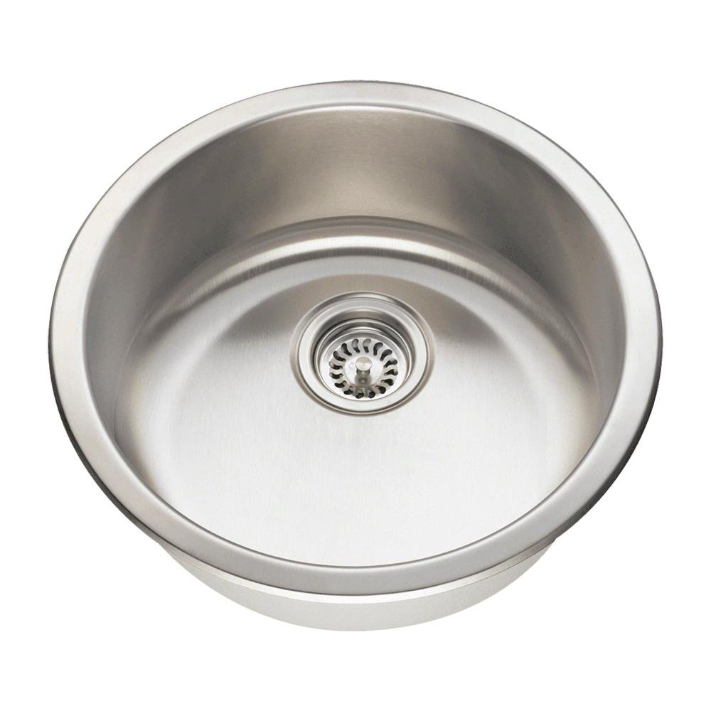 465 18-Gauge Dual-Mount Single Bowl Stainless Steel Bar Sink by MR Direct