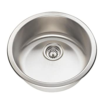 Perfect 465 18 Gauge Dual Mount Single Bowl Stainless Steel Bar Sink