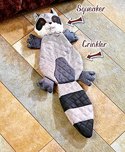 The Lakeside Collection Chew Resistant Dog Toy- Raccoon