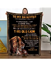 Personalized Flannel Blanket to Daughter Son Wife Husband Gift - Chrismas Birthday Wedding Anniversary Presents Flannel Velvet Plush Solid Bed Blanket Healing Thoughts Throws