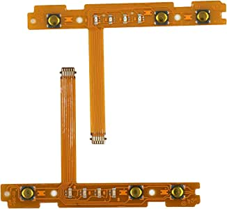 Mcbazel Replacement SL SR Left Right Sync Button Ribbon Flex Cable Set for Nintendo Switch NS Joy-Con Controller Repair Spare Parts