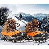 Soomloom 19本爪 スノースパイク アイゼン 氷 滑り止め 転倒防止 雪道や凍結道路 登山 雪山 トレッキング クイックフィット