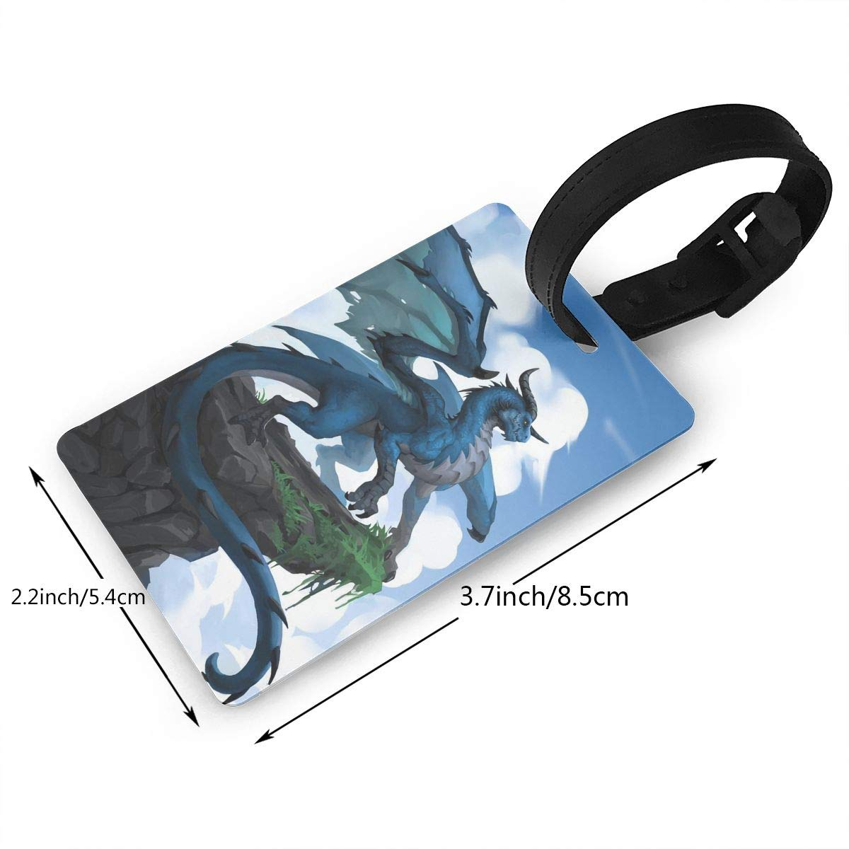 Dragon Pattern Handbag Tag For Travel Tags Accessories 2 Pack Luggage Tags