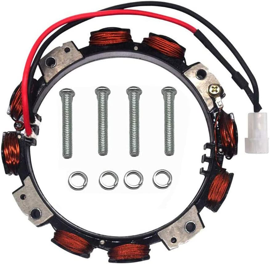 WuWoWo 592831 Alternator Stator Compatible with Ring Ignition Coil (Dual Circuit) Lawn and Garden Equipment Engine Alternator 696459 393800 691063 393474