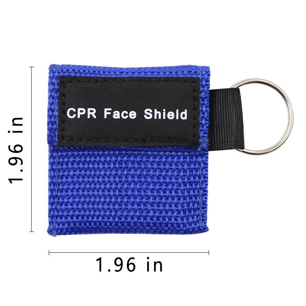 Paquete de 10pcs CPR Máscara Llavero Anillo de Emergencia Kit: Amazon.es: Deportes y aire libre