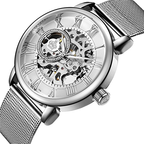 Sweetbless Wristwatch Men's Royal Classic Roman Index Hand-wind Mechanical Watch - Case Silver Movement