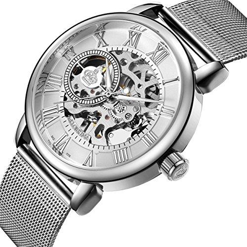 Sweetbless Wristwatch Men's Royal Classic Roman Index Hand-wind Mechanical Watch - Movement Silver Case