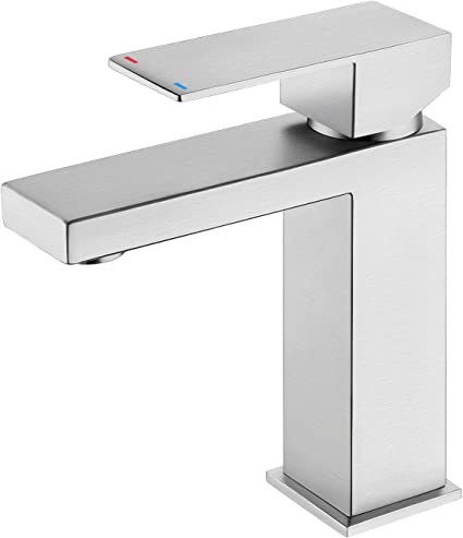 Kes Bathroom Faucet Brushed Nickel Sink Faucet Single Hole Washroom Vanity Basin Waterfall Vessel Faucet Single Handle Cupc Certified Stainless Steel L3156alf Bs Touch On Faucets Amazon Canada