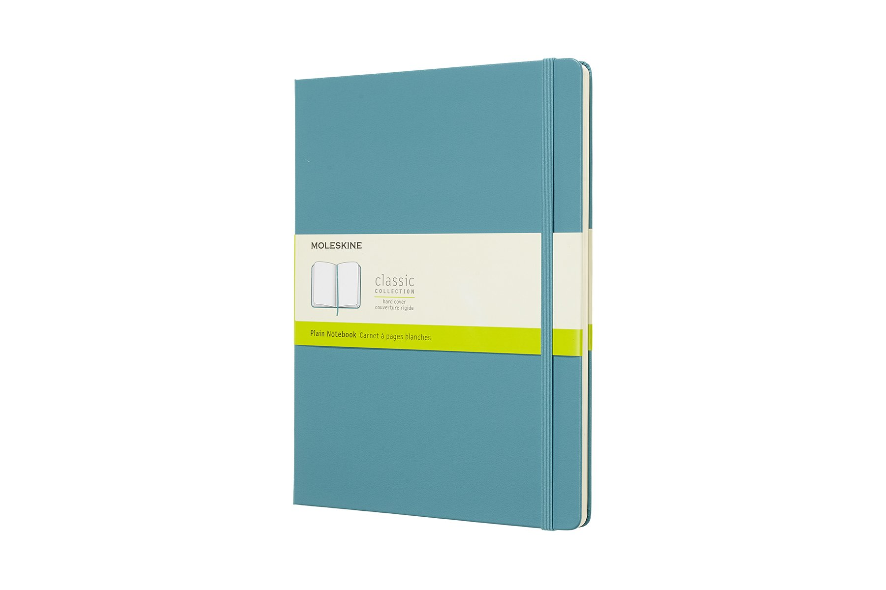 Moleskine Classic Notebook, Extra Large, Ruled, Blue Reef, Hard Cover (7.5 x 9.75)