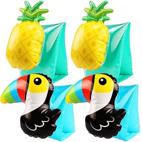 Tacobear 2 Pares Hinchables Manguitos 3D Flotador Manguitos Bebes Niños para para Aprender a Nadar Actividades
