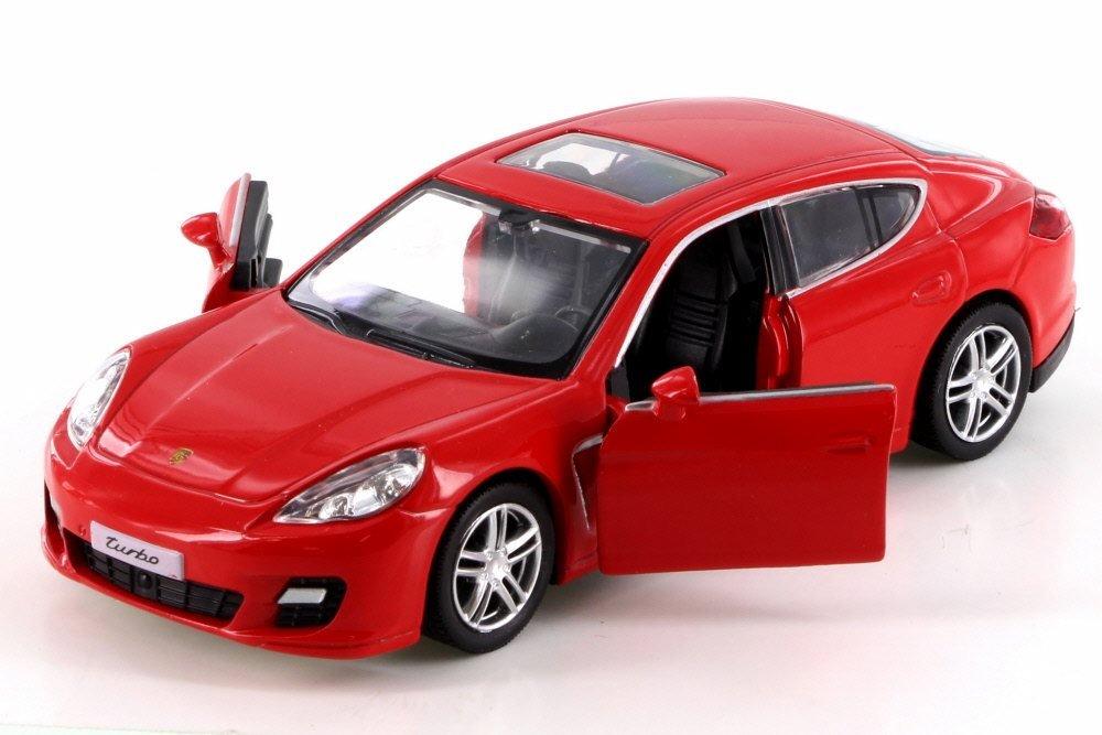 Amazon.com: RMZ City Porsche Panamera Turbo, Red 555002 - Diecast Model Toy Car but NO BOX: Toys & Games
