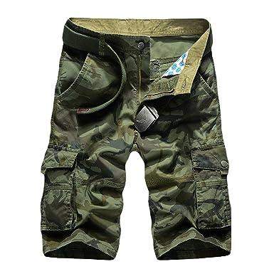 Pantalones Cortos De Carga Bolsillos Hombres Pantalones Muchos De ...