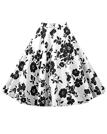 Falda De Mujer Vintage Bubble Floral Plisada Falda Rockabilly ...