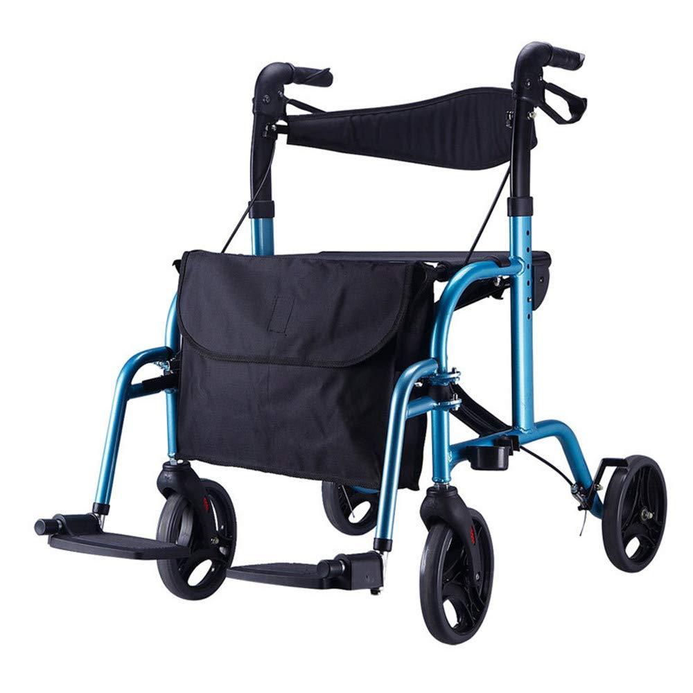 Andador plegable con ruedas, Andador con ruedas médico de 4 ...