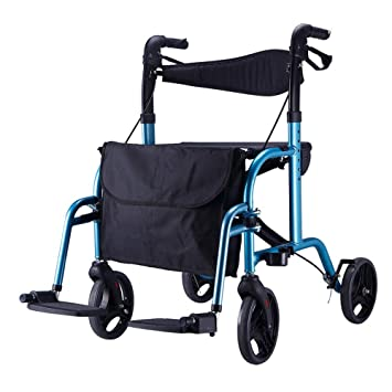 Andador plegable con ruedas, Andador con ruedas médico de 4 ruedas ...
