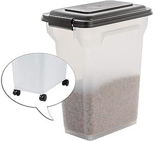 Iris Ohyama, Air Tight Food Container - ATS-M - Plastic, Black/Transparent, 20L, 7,5kg, 24.8 x 36.3 x 44 cm