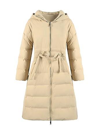 Elf sack Damen Winter Daunenmantel Warm Gefüttert 90% Weiße
