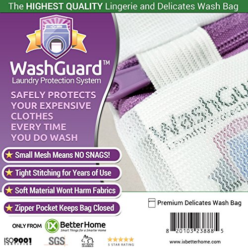 Large Lingerie Bag for Laundry - Premium Mesh Delicates Laundry Bag Protects Clothes in the Washer - No More Snags, Knotting or Napping Caused By Washing Even in Delicate Mode. Large 1 Pack