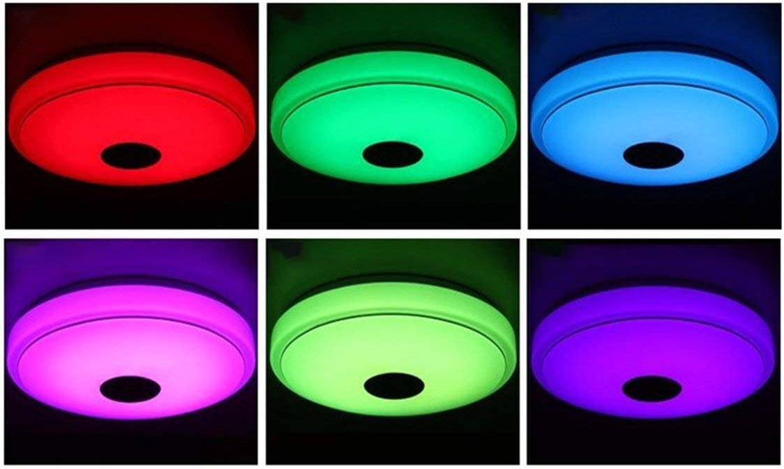 Avec t/él/écommande et application mobile Musique Lumi/ère /Étude de chambre denfants Luminaire de chambre /à coucher Led Plafonnier Blanc